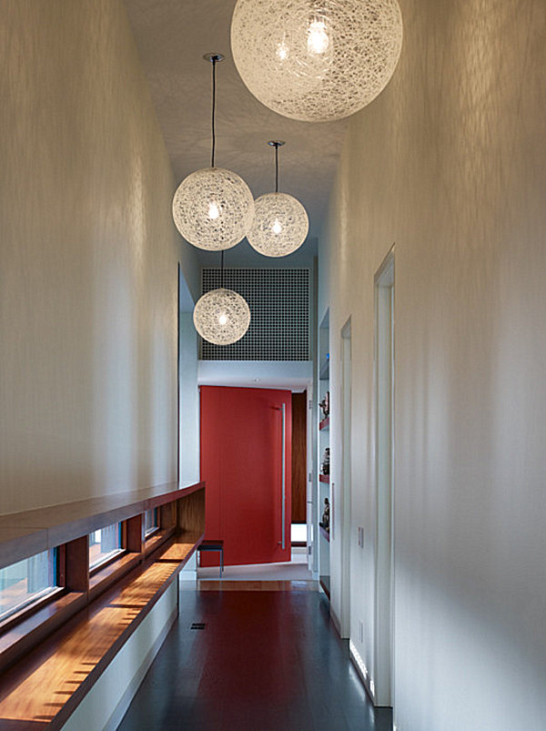 Hallway decorating ideas that sparkle with modern style for Interior design lighting uk