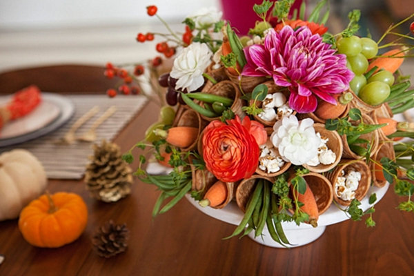 Ice cream cone Thanksgiving table design