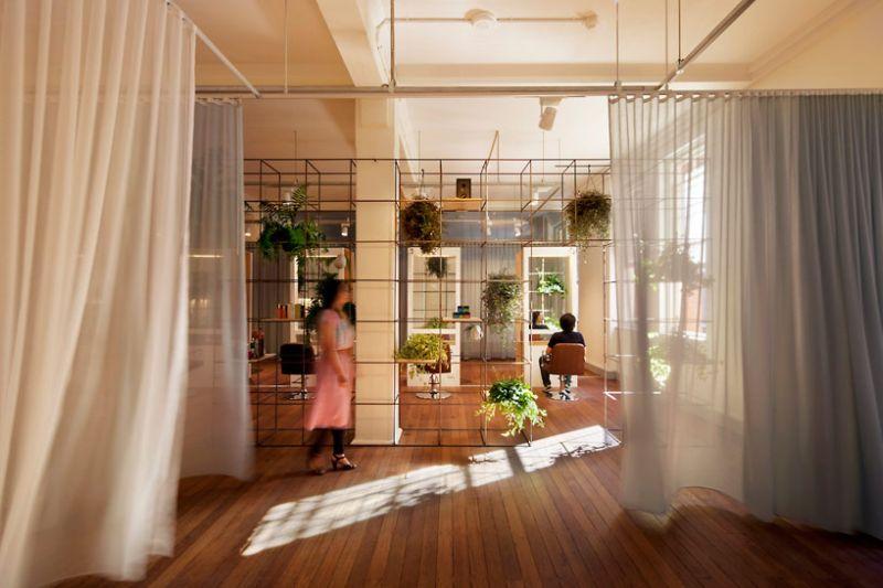 Interior of the Blu Creativity Salon in Sydney