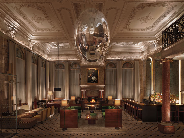 Luxurious london edition blends classic design with a for Design hotel london