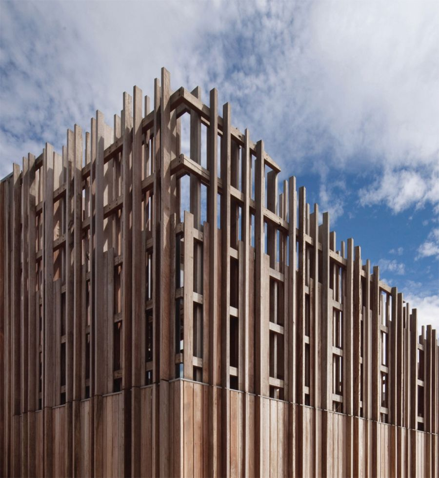 Intricate design of the exterior cladding