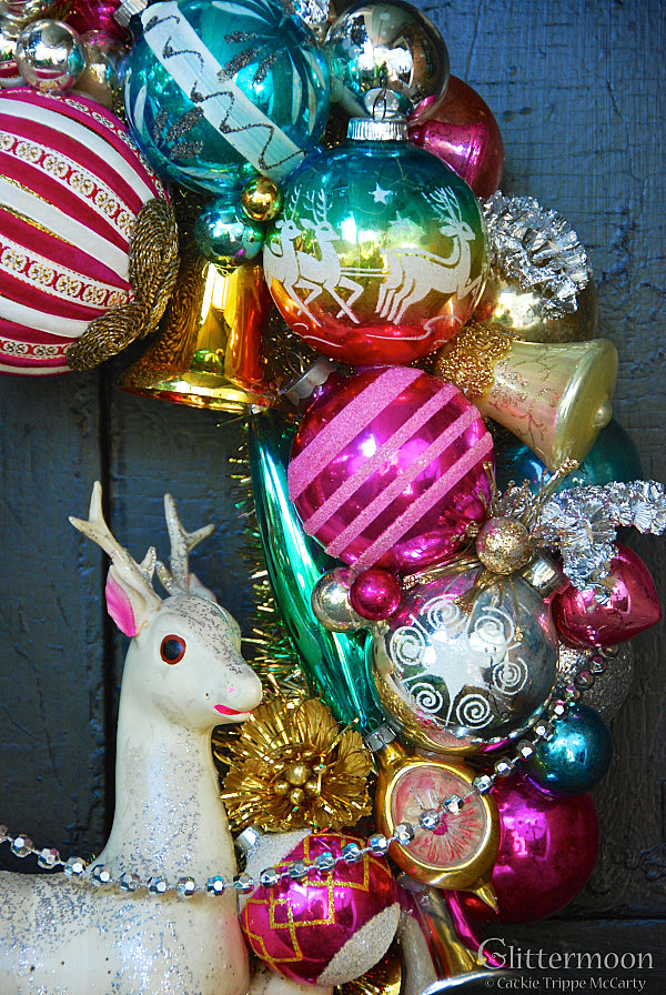 Jewel-toned vintage Christmas ornaments