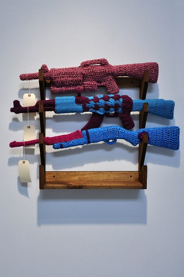 Knitted Furniture and Furnishings for Winter (29)