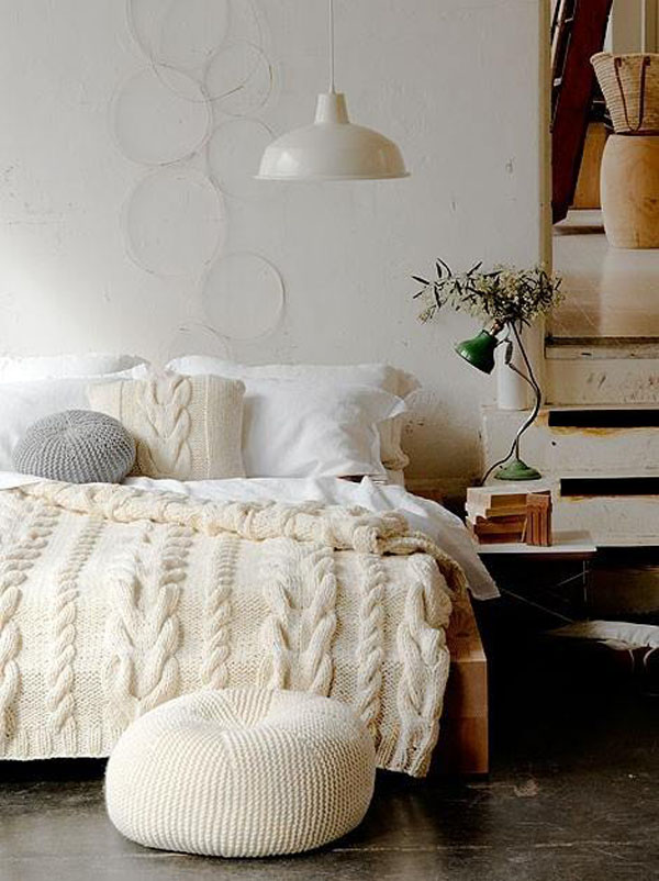 Knitted Furniture and Furnishings for Winter (3)