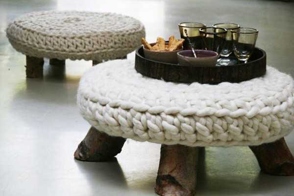 Knitted Furniture and Furnishings for Winter (8)