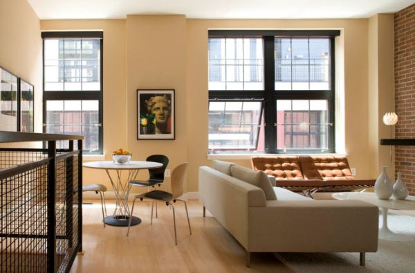 Knoll Cyclone Dining Table in a stylish urban loft