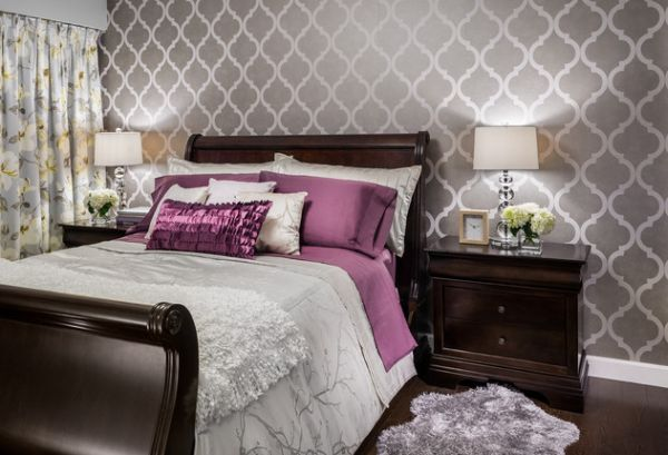 Layered pattern & textures bring the bedroom alive