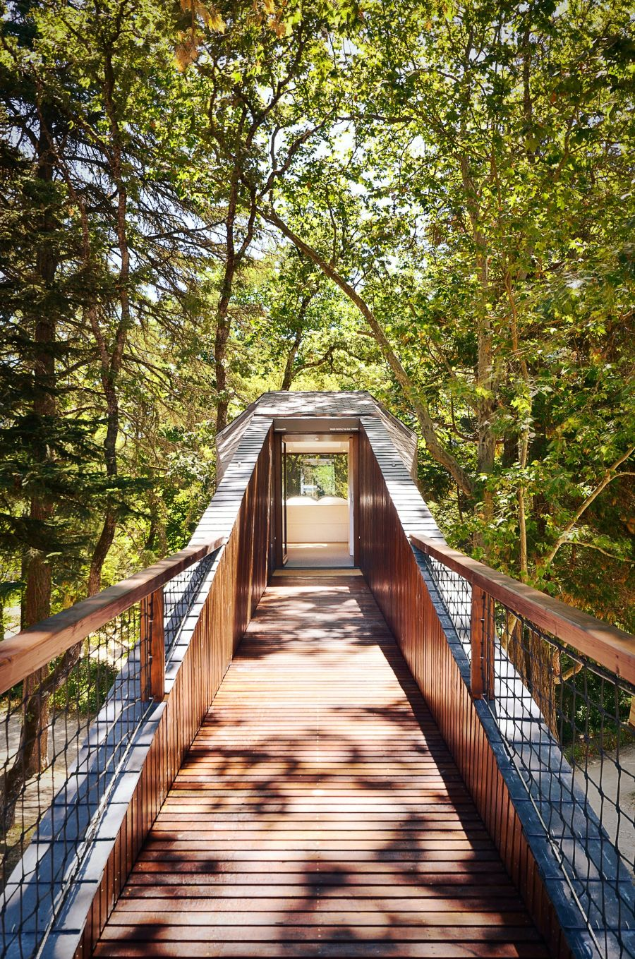 Light natural material used to craft the eco-friendly retreats