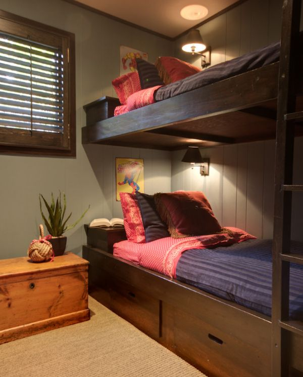 50 modern bunk bed ideas for small bedrooms for Girls bedroom decorating ideas with bunk beds