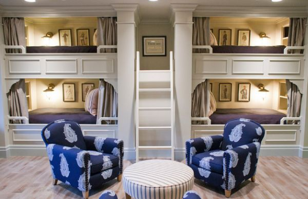 View In Gallery Little Drapes Add Some Class To The Bunk Bed Design