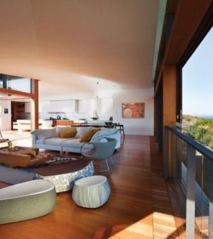 Living Room of the Queenscliff Residence with Ocean Views
