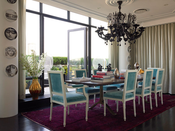 Dining room designed by Jonathan Adler