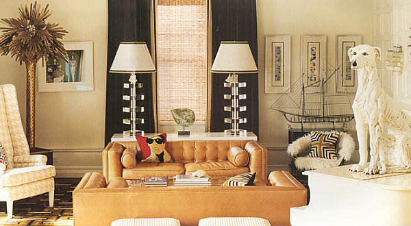 Living room designed by Jonathan Adler