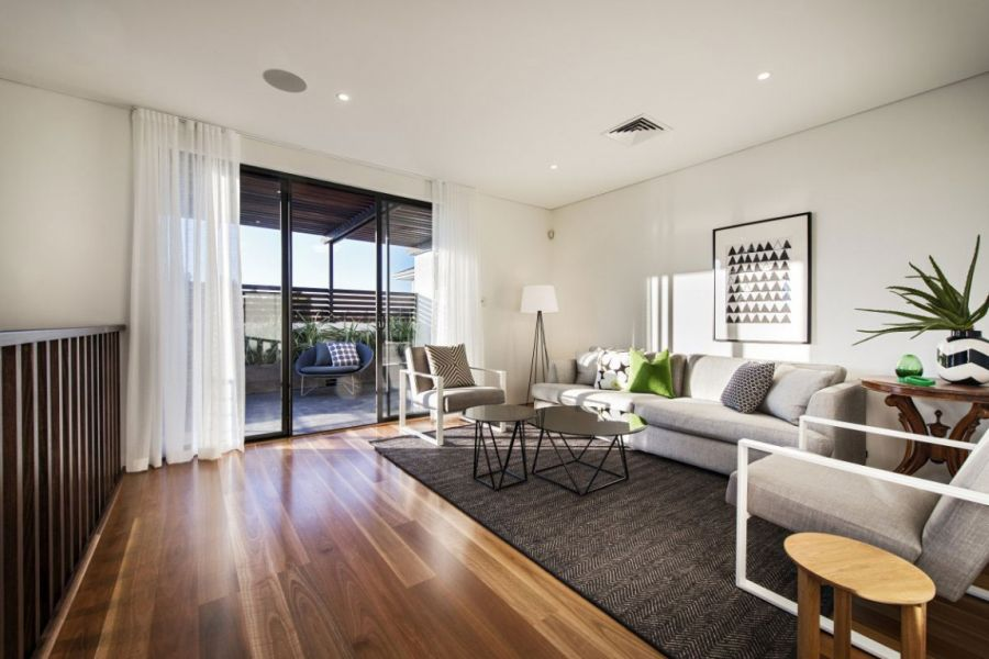 Living room of the Warehaus in Perth Ravishing Perth Residence Sports Sleek Design And A Sizzling Courtyard