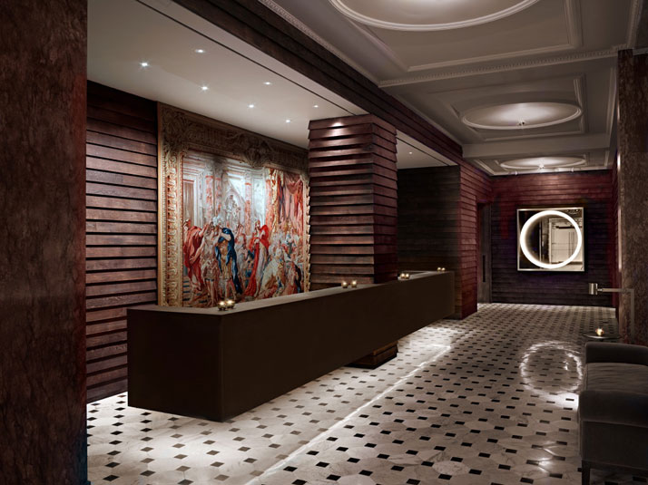 Lobby of the London Edition Hotel