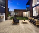 Lovely courtyard of the Warehaus in Perth