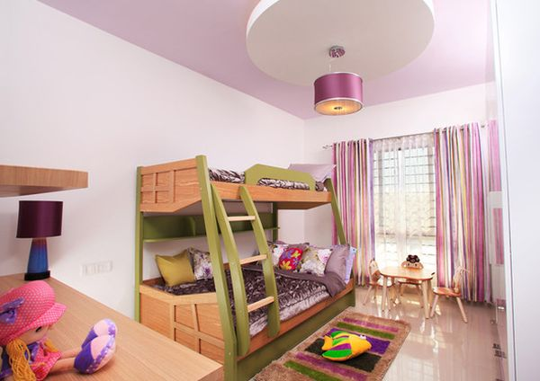 Wonderful View In Gallery Lovely Girlsu0027 Bedroom With A Colorful Bunk Bed