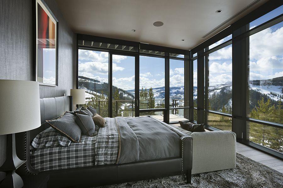 Luxury ski private retreat master bedroom