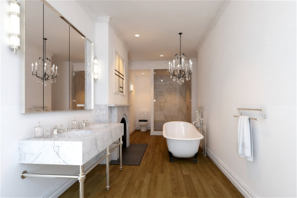 Luxury townhouse bathroom