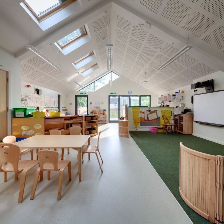 Main classroom inside the Infant school