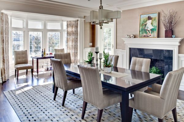 Make sure the fireplace adds to the dining room visual