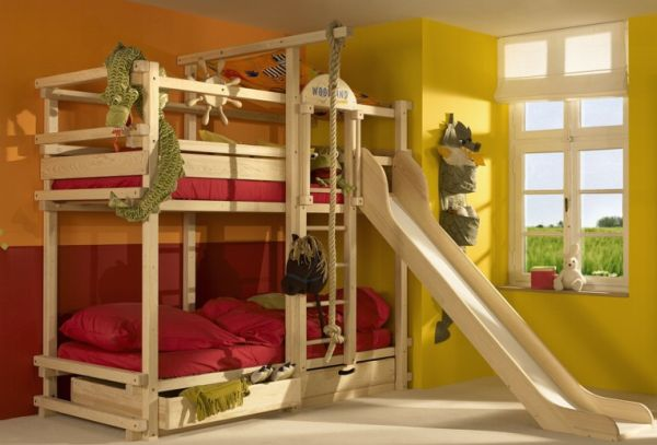 Make the bunk beds a lot more fun with a slide