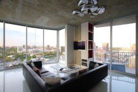 Make the couch the focal point of your bachelor pad living space