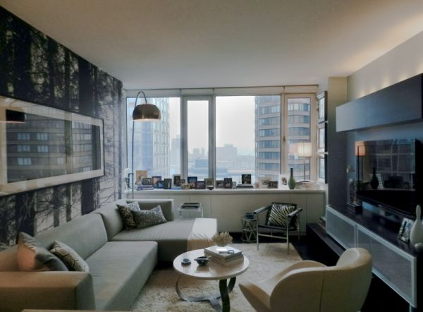 Beau View In Gallery Manhattan Bachelor Pad Makes Maximum Use Of Available Space