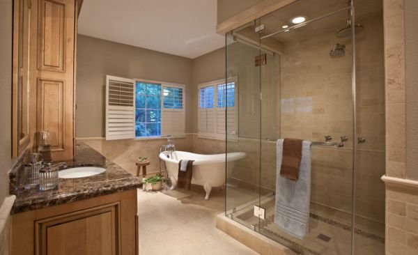 Master bathroom with a spacious steam shower area