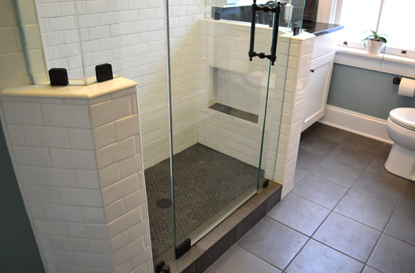 View In Gallery Matching Tile Floor And Shower Floor In A Small Bathroom Part 54