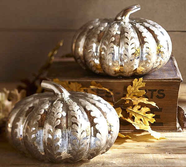 Mercury glass pumpkins