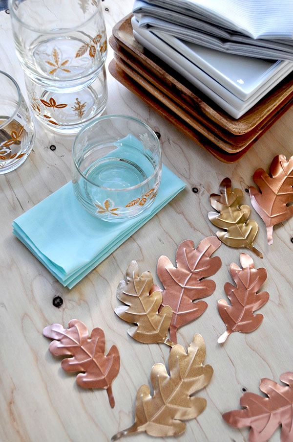 Metallic leaf DIY project
