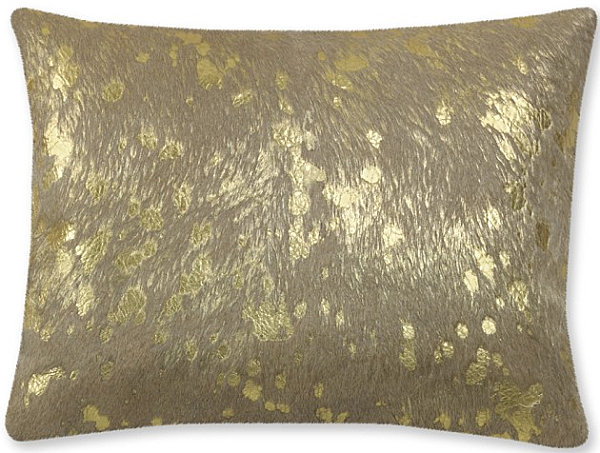 Metallic pillow cover