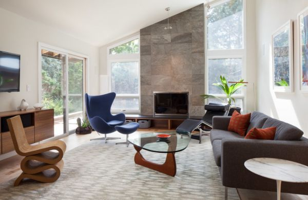 5 mid century modern accent chairs for Modern accent decor