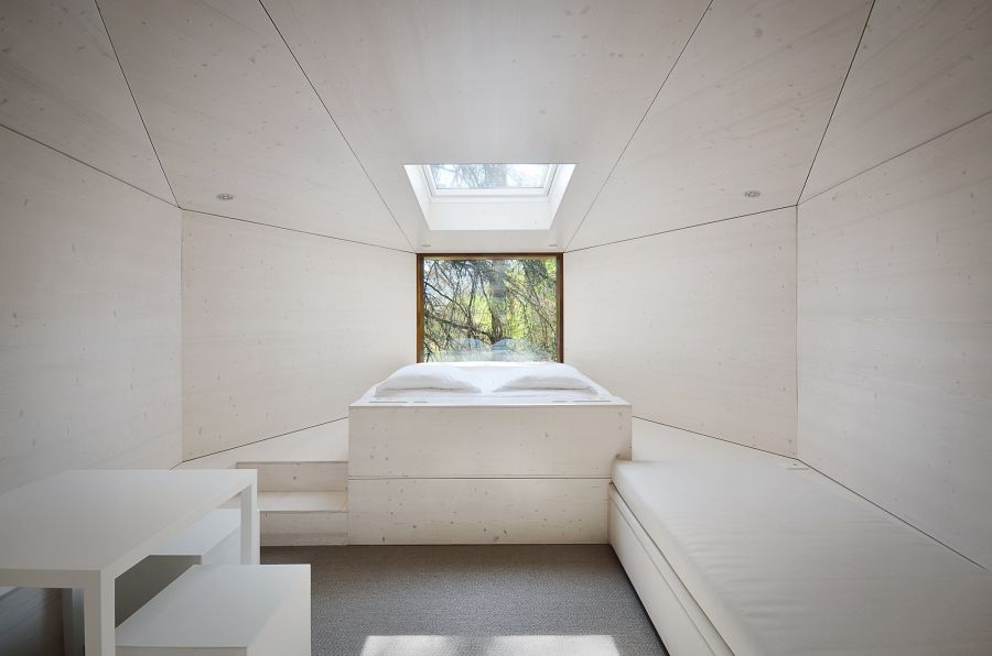 Minimlaist interior of the tree house