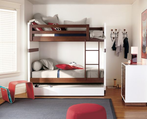 View in gallery Moda Bunk Bed by R&B comes with smart storage options
