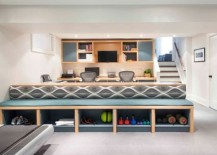 Modern cabinets to tuck away your gym equipment