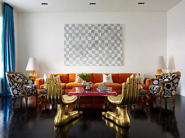 Modern decor in a New York residence