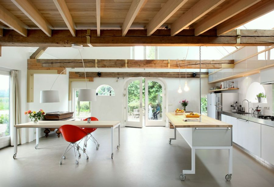 Modern Kitchen Old House old dutch barn transformed into a spacious contemporary home