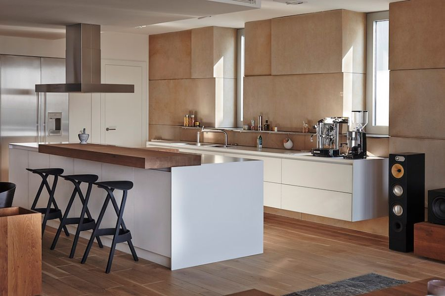 Modern kitchen with a fabulous island