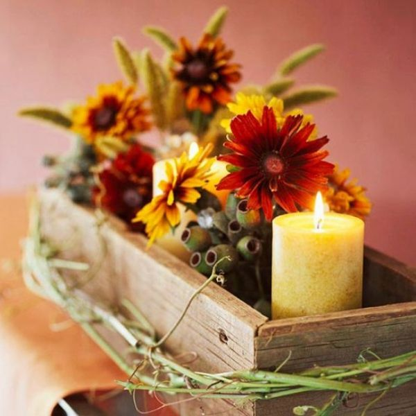 Nature-inspired Thanksgiving decor is easy to create