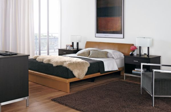 Neutral colors are ideal for small bachelor pad bedrooms