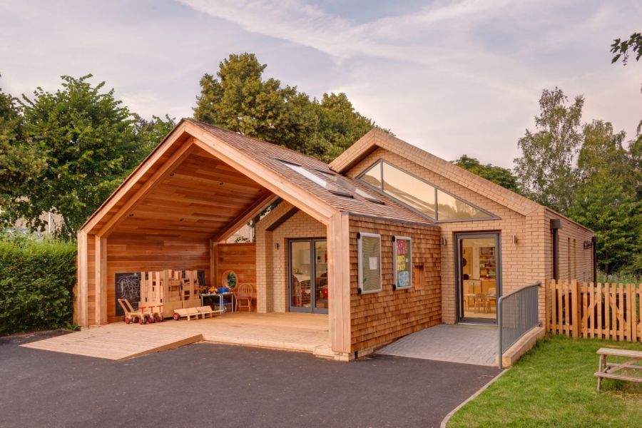 New wooden structure at the St Mary's Infant School