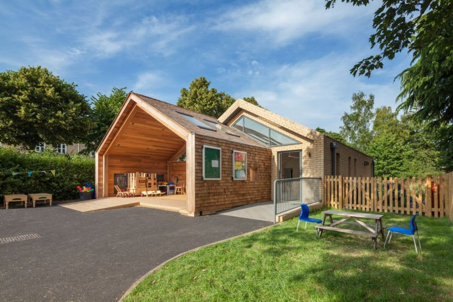 Open design of the new addition to the St Mary's Infant School