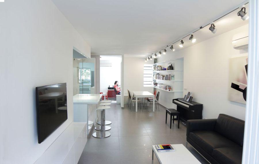 Open floor living plan of the modern home