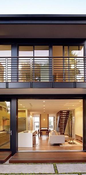 Outdoor Spiral Staircase- John Maniscalco Architecture