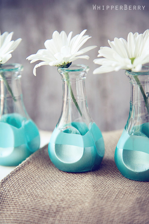 Paint Dipped Bud Vases  (6)