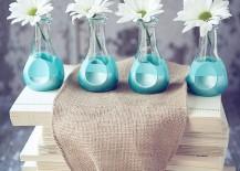 Subtle Floral DIY Decor: Paint Dipped Bud Vases