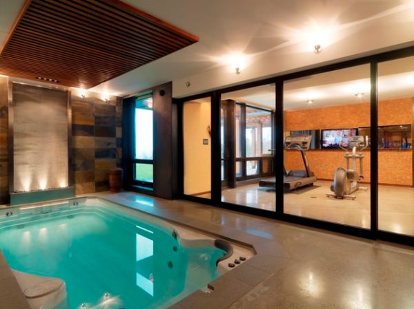 Pamper your senses with the swim spa after sweating it out in the gym