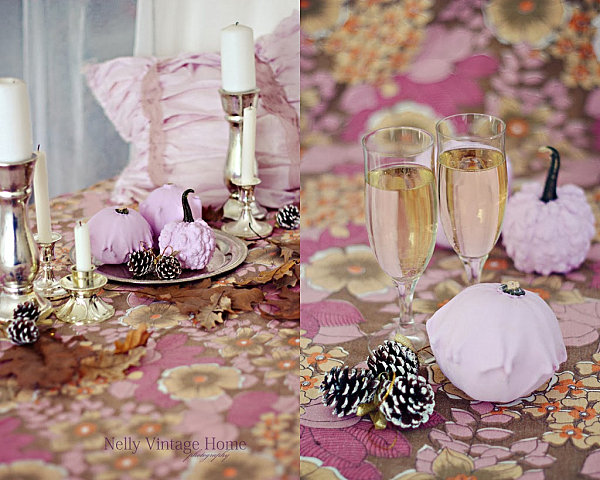 Pastel autumn table spread